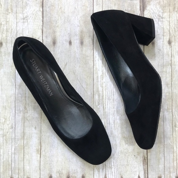 a7eb84b90e Stuart Weitzman Shoes - Stuart Weitzman Marymid Pump - Black Suede - 8M